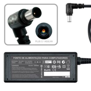 FONTE P/ NOTEBOOK SONY 19.5V 2A – Plug. 6.5×4.4mm