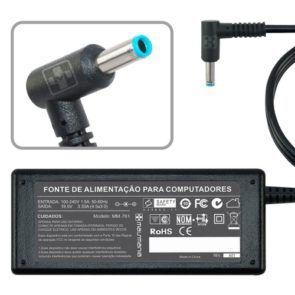 FONTE P/ NOTEBOOK HP 19.5V 3.33A – Plug. 4.5×3.0mm