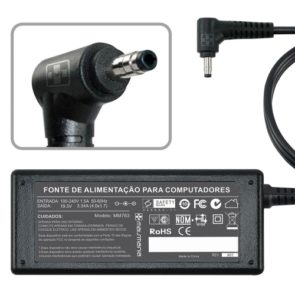 FONTE P/ NOTEBOOK DELL 19.5V 3.34A – Plug. 4.0×1.7mm