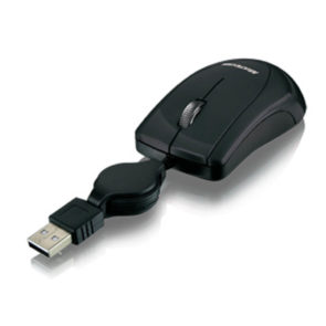 MOUSE USB RETRÁTIL MINI MO159 PRETO MULTILASER